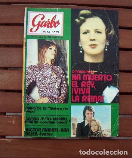 GARBO / MARISOL, THE BEATLES, LINA MORGAN, VICTOR MANUEL, MARY CARMENY SUS MUÑECOS (Coleccionismo - Revistas y Periódicos Modernos (a partir de 1.940) - Revista Garbo)