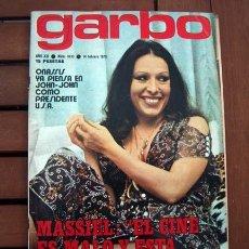 Coleccionismo de Revista Garbo: GARBO / JANE SEYMOUR POSTER, GLORIA HENDRY, MASSIEL, GIACOMO AGOSTINI, ROCIO DURCAL, LORNA LUFT. Lote 116348931