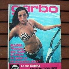 Coleccionismo de Revista Garbo: GARBO / MASSIEL, STEVE MCQUEEN, KARINA, ANA BELEN, SUSAN HAMPSHIRE, MUNICH 1972, DEMIS ROUSSOS. Lote 117655179