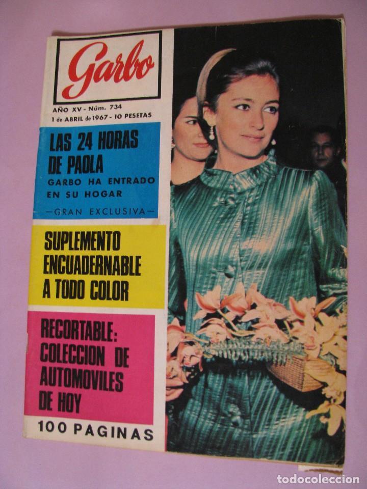 REVISTA GARBO. Nº 734. 1 ABRIL 1967. (Coleccionismo - Revistas y Periódicos Modernos (a partir de 1.940) - Revista Garbo)