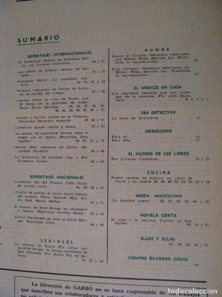 Coleccionismo de Revista Garbo: REVISTA GARBO. Nº 734. 1 ABRIL 1967. - Foto 2 - 118029667
