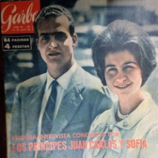 Coleccionismo de Revista Garbo: PRINCIPES JUAN CARLOS Y SOFIA. PRIMERA ENTREVISTA. REVISTA GARBO Nº 536. 22/06/1963. Lote 118295707