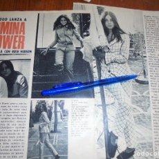 Coleccionismo de Revista Garbo: RECORTE PRENSA : HOLLYWOOD LANZA A ROMINA POWER, CON ROCK HUDSON. GARBO, OCTUBRE 1966. Lote 118436223