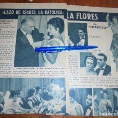 Coleccionismo de Revista Garbo: RECORTE PRENSA : LOLA FLORES RECIBE EL LAZO DE ISABEL LA CATOLICA. GARBO, ABRIL 1962. Lote 118436503
