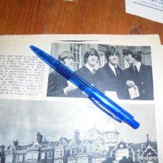 Coleccionismo de Revista Garbo: RECORTE PRENSA : LOS BEATLES, CABALLEROS DE LA ORDEN DEL IMPERIO BRITANICO. GARBO, JUNIO 1966. Lote 118436667