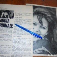 Coleccionismo de Revista Garbo: RECORTE PRENSA : ESTA ES...CLAUDIA CARDINALE. GARBO, JUNIO 1966. Lote 118436779