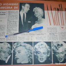 Colecionismo da Revista Garbo: RECORTE PRENSA : SOLO UN HOMBRE EN LA CABECERA DE MARILYN MONROE : JOE DI MAGGIO. GARBO , JULIO 1958. Lote 118713487