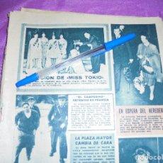 Collectionnisme de Magazine Garbo: RECORTE PRENSA : ELECCION DE MISS TOKIO. GARBO, OCTUBRE 1961. Lote 118778275