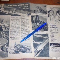 Coleccionismo de Revista Garbo: RECORTE PRENSA : EL AVION FORRESTAL, GARANTIA DE PAZ. GARBO, MAYO 1957. Lote 118882171