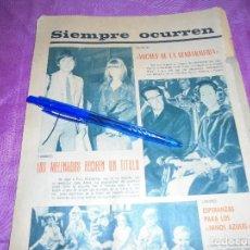 Coleccionismo de Revista Garbo: RECORTE PRENSA : LOS BEATLES RECIBEN UN TITULO. GARBO, JUNIO 1965. Lote 118987455