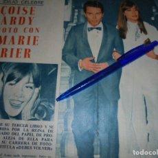 Coleccionismo de Revista Garbo: RECORTE PRENSA : FRANÇOISE HARDY HA ROTO CON JEAN-MARIE PERIER. GARBO, JUNIO 1965. Lote 118987559