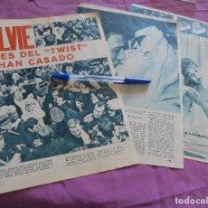 Coleccionismo de Revista Garbo: RECORTE DE PRENSA : BODA DE SYLVIE VARTAN Y JOHNNY HALLYDAY. GARBO, ABRIL 1965. Lote 119183279