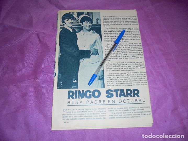 RECORTE DE PRENSA : RINGO STAR, SERA PADRE. GARBO, ABRIL 1965 (Coleccionismo - Revistas y Periódicos Modernos (a partir de 1.940) - Revista Garbo)
