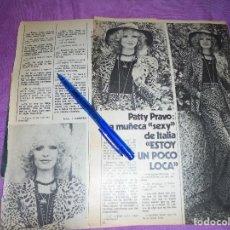 Coleccionismo de Revista Garbo: RECORTE PRENSA : PATTY PRAVO, LA MUÑECA SEXY DE ITALIA. GARBO, 1974. Lote 119360259