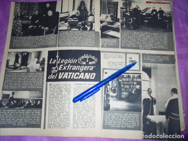 RECORTE DE PRENSA : LA LEGION EXTRANJERA DEL VATICANO. GARBO, 1957 (Coleccionismo - Revistas y Periódicos Modernos (a partir de 1.940) - Revista Garbo)