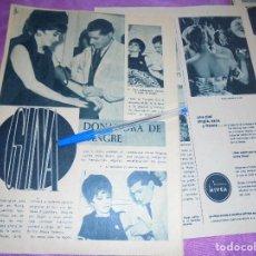 Coleccionismo de Revista Garbo: RECORTE PRENSA : GINA LOLLOBRIGIDA, DONA SANGRE. GARBO, ENERO 1961. Lote 119426139