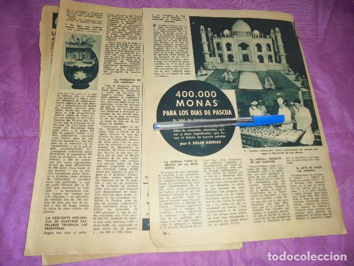RECORTE DE PRENSA : 400.000 MONAS PARA LOS DIAS DE PASCUA. GARBO, MARZO 1959 (Coleccionismo - Revistas y Periódicos Modernos (a partir de 1.940) - Revista Garbo)