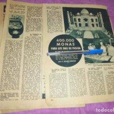 Coleccionismo de Revista Garbo: RECORTE DE PRENSA : 400.000 MONAS PARA LOS DIAS DE PASCUA. GARBO, MARZO 1959. Lote 119426971