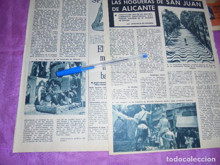 RECORTE DE PRENSA : LAS HOGUERAS DE SAN JUAN DE ALICANTE. GARBO, JUNIO 1962 (Coleccionismo - Revistas y Periódicos Modernos (a partir de 1.940) - Revista Garbo)
