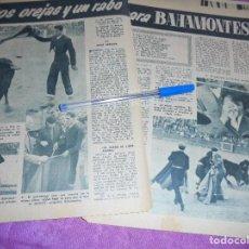 Coleccionismo de Revista Garbo: RECORTE PRENSA : OREJAS Y RABO PARA BAHAMONTES. GARBO, 1959. Lote 119603731