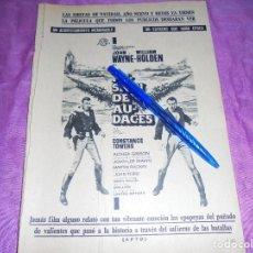 Coleccionismo de Revista Garbo: PUBLICIDAD DE LA PELICULA : MISION DE AUDACES. JOHN WAAYNE, WILLIAM HOLDEN. GARBO, DICIEMBRE 1959. Lote 120042399