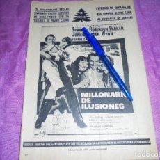 Coleccionismo de Revista Garbo: PUBLICIDAD DE LA PELICULA : MILLONARIO DE ILUSIONES. FRANK SINATRA. GARBO, DICIEMBRE 1959. Lote 120042483