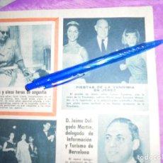 Coleccionismo de Revista Garbo: RECORTE DE PRENSA : MARISOL, EN LAS FIESTAS DE LA VENDIMIA DE JEREZ. GARBO, SEPBRE 1962. Lote 120043239