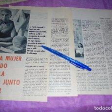 Coleccionismo de Revista Garbo: RECORTE PRENSA : NINGUNA MUJER HAYA LA FELICIDAD JUNTO A PICASSO . GARBO, MAYO 1966. Lote 120043731