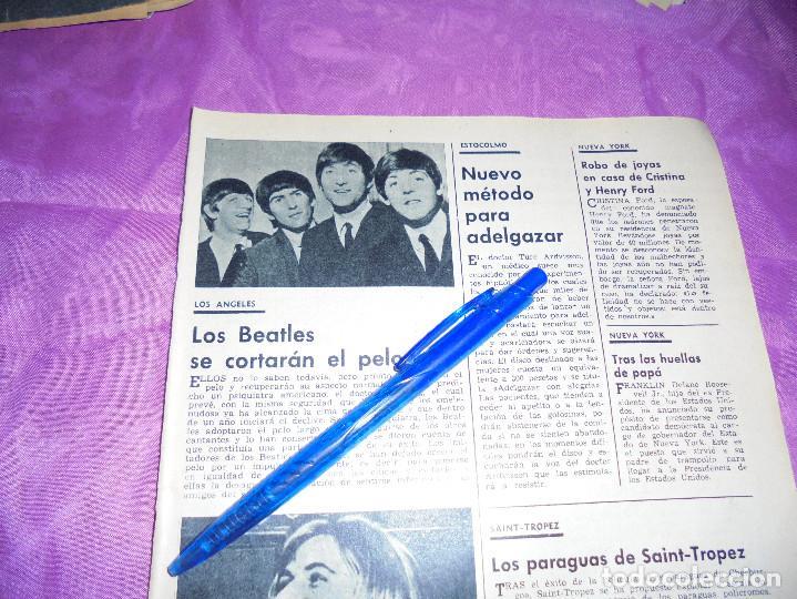 RECORTE PRENSA : LOS BEATLES SE CORTARAN EL PELO . GARBO, MAYO 1966 (Coleccionismo - Revistas y Periódicos Modernos (a partir de 1.940) - Revista Garbo)