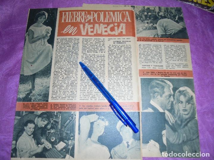RECORTE PRENSA : POLEMICA EN VENECIA. SARA MONTIEL, ESPOSA DE ANTHONY MANN. GARBO, SPBRE 1958 (Coleccionismo - Revistas y Periódicos Modernos (a partir de 1.940) - Revista Garbo)
