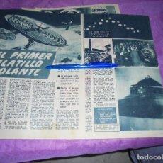 Coleccionismo de Revista Garbo: RECORTE PRENSA : EL PRIMER PLATILLO VOLANTE. GARBO, SPBRE 1954. Lote 120125023