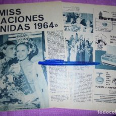 Collectionnisme de Magazine Garbo: RECORTE PRENSA : MISS NACIONES UNIDAS 1964. GARBO, JULIO 1964. Lote 120191379