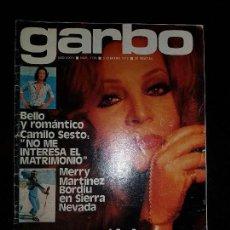 Coleccionismo de Revista Garbo: REVISTA GARBO Nº 1136 5 DE FEBRERO 1975. CAMILO SESTO, MERRY MARTINEZ BORDIU, SARA MONTIEL. Lote 120218327