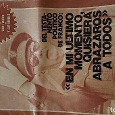Coleccionismo de Revista Garbo: ESPECIAL GARBO, FRANCO . Lote 121219919