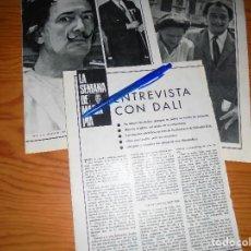 Collectionnisme de Magazine Garbo: RECORTE PRENSA : ENTREVISTA CON DALI. GARBO, DICBRE 1966. Lote 121536487
