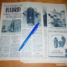 Coleccionismo de Revista Garbo: RECORTE PRENSA : CATEDRAL DE MADRID : OBRAS ETERNAS. GARBO, DICBRE 1966. Lote 121536867