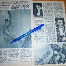 Coleccionismo de Revista Garbo: RECORTE PRENSA : JAMES DEAN : EL TRIUNFO LE LLEGO TARDE. GARBO, DICBRE 1966. Lote 121536979
