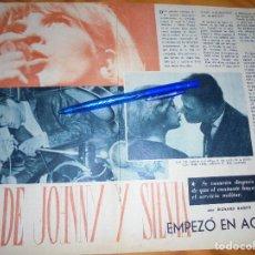 Coleccionismo de Revista Garbo: RECORTE PRENSA : EL AMOR DE JOHNNY HALLYDAY Y SYLVIE VARTAN,EMPEZO EN ACAPULCO. GARBO, DICBRE 1966. Lote 121537239