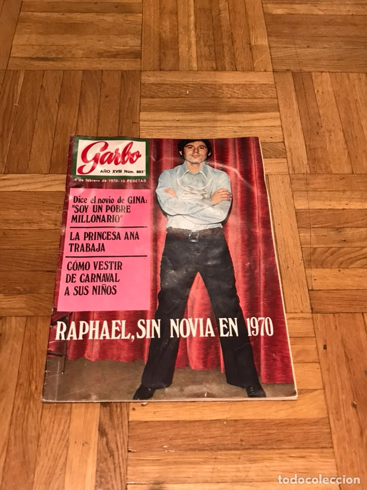 REVISTA GARBO 4 DE FEBRERO 1970 RAPHAEL - PRINCESA ANA - GINA (Coleccionismo - Revistas y Periódicos Modernos (a partir de 1.940) - Revista Garbo)