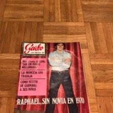 Coleccionismo de Revista Garbo: REVISTA GARBO 4 DE FEBRERO 1970 RAPHAEL - PRINCESA ANA - GINA. Lote 122303254
