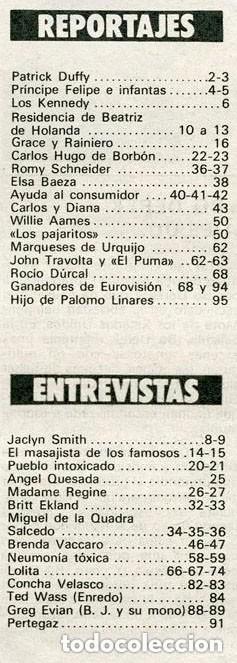 Coleccionismo de Revista Garbo: GARBO - 1981 - JACLYN SMITH, BRITT EKLAND, LOLITA, ROCIO DURCAL, CONCHA VELASCO, BUCKS FIZZ - Foto 2 - 124596915