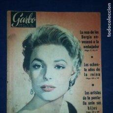 Coleccionismo de Revista Garbo: GARBO - NÚMERO 178 - AÑO 1956 - EN PORTADA ANNA BANCROFT. Lote 125824115