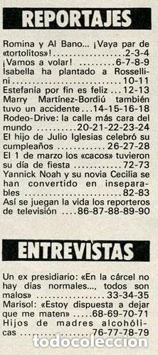 Coleccionismo de Revista Garbo: GARBO - 1984 - ESTEFANÍA, ROMINA POWER, JULIO JOSÉ IGLÉSIAS, MARISOL, CANETE - Foto 2 - 126438519