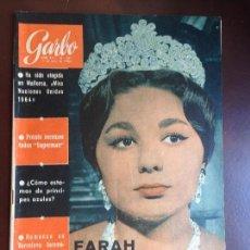 Coleccionismo de Revista Garbo: GARBO Nº 591 11/07/1964 PORTADA FARAH DIBA ANUNCIA QUE ESPERA SU TERCER HIJO. Lote 128915663