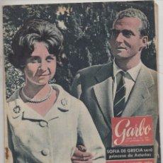 Coleccionismo de Revista Garbo: GARBO #445 1961 SOPHIA GREECE KING JUAN CARLOS SPAIN SORAYA ROYALTY MAGAZINE. Lote 130205099