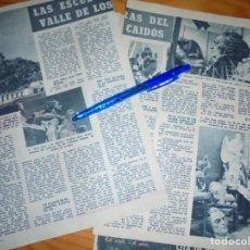 Coleccionismo de Revista Garbo: RECORTE PRENSA : LAS ESCULTURAS DEL VALLE DE LOS CAIDOS DE JUAN DE AVALOS. GARBO, NVBRE 1956. Lote 130318330
