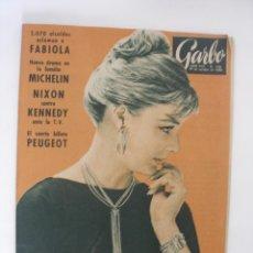 Coleccionismo de Revista Garbo: GARBO AÑO XVIII Nº 398 AÑO 1960 DORSO PUBLICIDAD EMBRUJO MYRURGIA. Lote 130327246