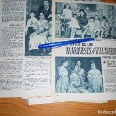 Coleccionismo de Revista Garbo: RECORTE PRENSA : LA HIJA DE LOS MARQUESES DE VILLAVERDE, FALLERA MAYOR. GARBO, ENERO 1960. Lote 130837444