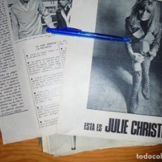 Coleccionismo de Revista Garbo: RECORTE PRENSA : JULIE CHRISTIE. GARBO, NVBRE 1966. Lote 130837600