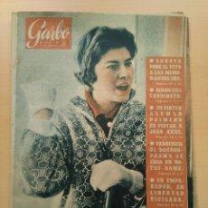 Coleccionismo de Revista Garbo: GARBO NUM 356. 1.960. NIXON. SORAYA. SHA. FRANCISCA DE BORBON.. Lote 131142016
